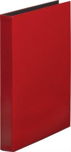 キングジム レザフェス リングファイル 赤 1961LFアカ 00007358 【まとめ買い3冊セット】