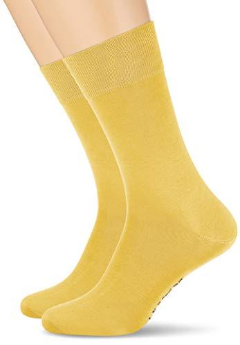 Calcetines básicos amarillo mostaza para mujer y hombre