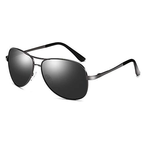 LZXMXR Gafas de Sol Gafas de Sol polarizadas más vendidas Gafas de Sol de Color for Hombres Espejo de Rana Piernas de Primavera Inducción UV Gafas de Sol de Color Inteligente (Color : A2)