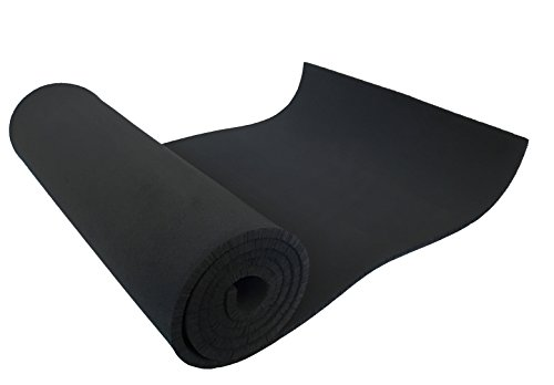 XCEL Premium Large Neoprene Sheet - 54' Wide x 12' Length x 1/4' Great Foam Sheet for Padding and DIY Projects, Neoprene Fabric Water and Weather Resistant, Made in USA, Easy Cut Technology