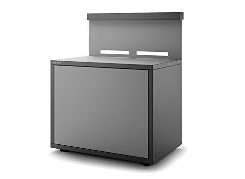 Support plancha acier fermé noir et gris clair mat