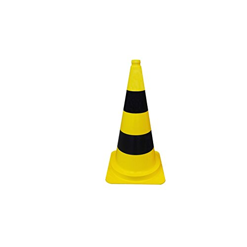 Leitkegel / Warnkegel / Pylone - Höhe: 500 mm - gelb schwarz