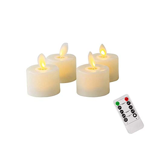 4PCS Led Candle with Exclusive Remote Control Auto Off Timer Long for Wedding/Valentine's Day Table Decoration Romantic Atmospher