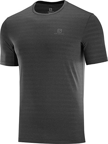 SALOMON XA tee M Camiseta Deportiva de Manga Corta, Negro, Talla XL para Hombre