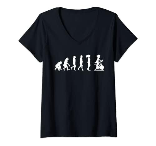 Mujer Spinning Evolution Cardio Indoor Cycling Zapatos de Camiseta Cuello V