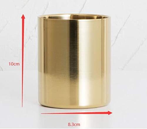 50st / pakket DIY handleiding kaars drank container/glas kaarsen aromatherapie kaarsen kaars cup glazen aan de groothandel,50st goud 8.3x10cm