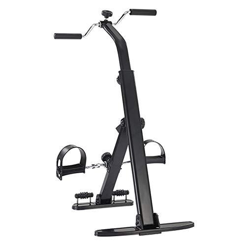 Faltbarer Heimtrainer mit LCD Anzeige & Einstellbarem Widerstand, Heimtrainer Pedaltrainer für Arm und Beintrainer, Pedaltrainer für Muskelaufbau, Ausdauertraining, ideal für Senioren