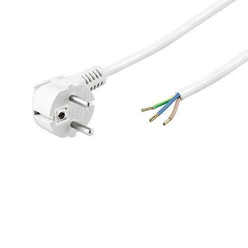 Cable de alimentacion electrico CEE7 Macho a bornes 3x1mm 3 Metros Blanco
