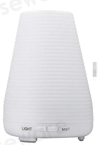 LANGPIG Difusor de Aceite Esencial, humidificador de Aire, difusores de Aceite de aromaterapia, Niebla ultrasónica con difusor LED de 7 Colores cambiantes-Blanco