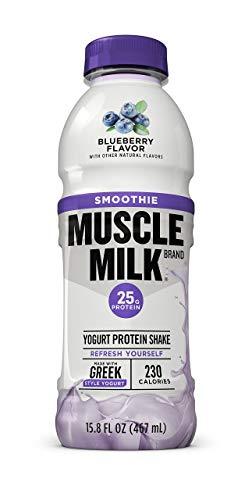 Muscle Milk Smoothie Protein Yogurt Shake, Blueberry, 25g Protein, 15.8 FL OZ, 12 Count
