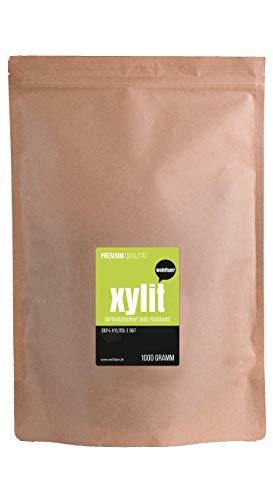 Wohltuer Xylit - Der Echte Birkenzucker aus Finnland 1000g | Das Original - garantiert ohne Maiszusatz | Natürlicher Zucker-Ersatz für gesunde Ernährung
