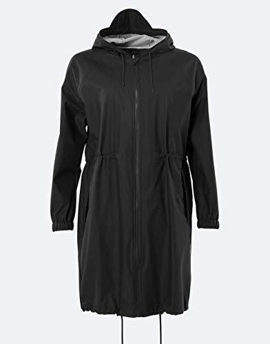 RAINS Damen Long W Jacket Weste, Schwarz, L/XL