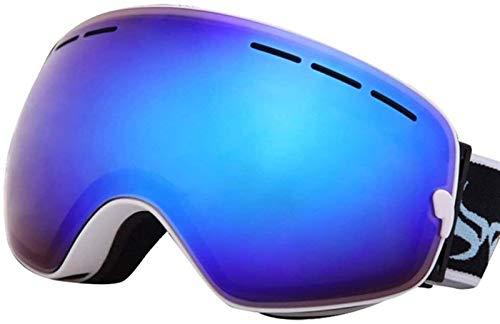 HEDC Gafas de esquí Ajustables, Lentes polarizadas Disponibles OTG Snowboard Snow Goggles Intercambiable para Hombres Mujeres Juvenil Anti-Fog Protección UV 21-412