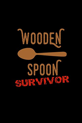 Wooden Spoon Survivor: Hangman Puzzles | Mini Game | Clever Kids | 110 Lined Pages | 6 X 9 In | 15.24 X 22.86 Cm | Single Player | Funny Great Gift