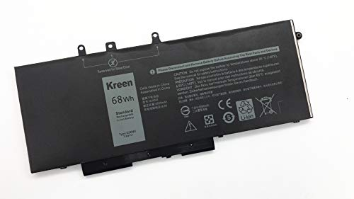 Kreen Compatible GJKNX Laptop Battery Replacement for Dell Precision 15 3520 Dell Latitude E5480 Latitude E5580 Latitude E5490 Latitude E5590 Series Notebook 0GD1JP GD1JP DY9NT 0DY9NT 5YHR4 7.6V 68Wh