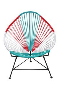 Innit Designs i01-01-21 Acapulco Chair Mexico Weave on Black Frame