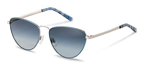 Gafas de sol Rodenstock Youngline Sun RR106 (mujer), gafas de mujer ligeras con forma de ojo de gato, gafas mariposa modernas con montura de acero inoxidable