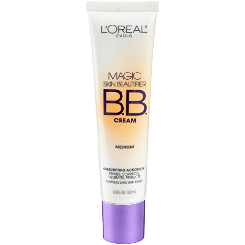 L'Oréal Paris Makeup Magic Skin Beautifier BB Cream Tinted Moisturizer Face Makeup, Medium, 1 fl. oz.