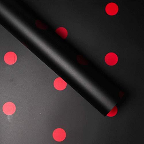 ZXL Polka Dot Boeket Inpakpapier Dikke Waterdichte Verpakking Papier Bloem Winkel Inpakpapier 20 Vellen Origami (Kleur : F, Maat : 60 * 60CM)