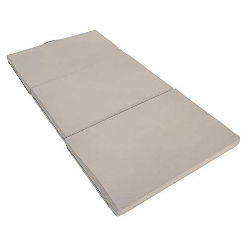 エイプマンパッド310 高反発マットレス 三つ折り 厚み10cm シングル ミッドグレー 90日返品保証ありモデル
