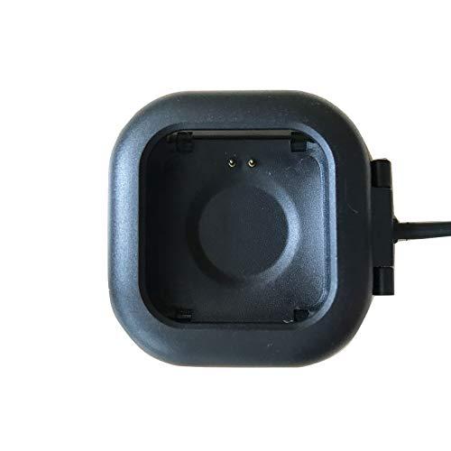 BIGCHINAMALL Smartwatch Cargador, estación de Carga USB de Repuesto para Cargador Adaptador de Carga para Reloj Inteligente (Soporte de Carga) (Black)