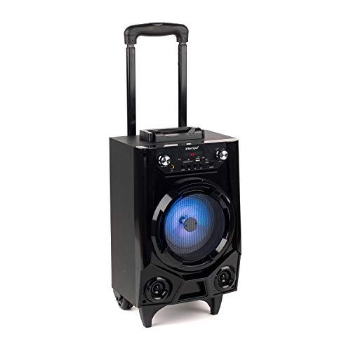INTEMPO® EE2728MBLKSTKEU7 Kabelloser Bluetooth-LED-Trolley-Lautsprecher mit Mikrofon