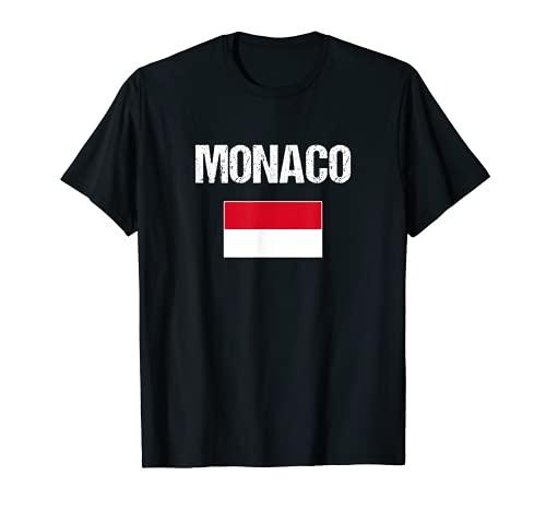 Monaco Bandiera Monegasco Monaco Maglietta