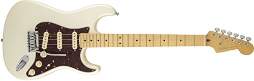 FENDER STRATOCASTER AMERICAN DELUXE OLYMPIC PEARL MAPLE FINGERBOARD + maletín para guitarra...