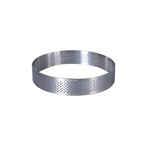 LHY- Molde redondo para tartas, con agujeros de acero inoxidable 304, diseño de torre de aros, metal, 10 cm