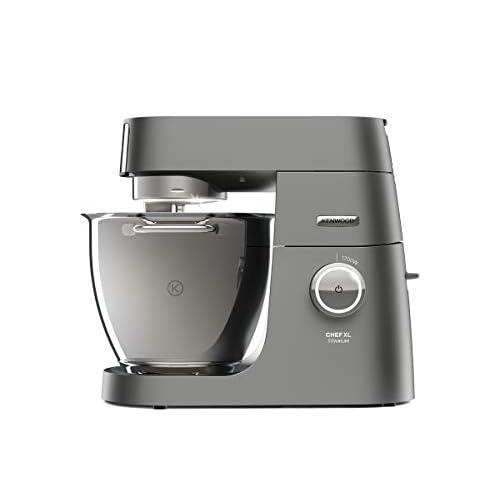 Kenwood KVL8300S Impastatrice Planetaria Chef Titanium SYSTEM PRO, Robot da Cucina Mixer, 1700 W,6.7 Litri, Acciaio, Plastica, Argento