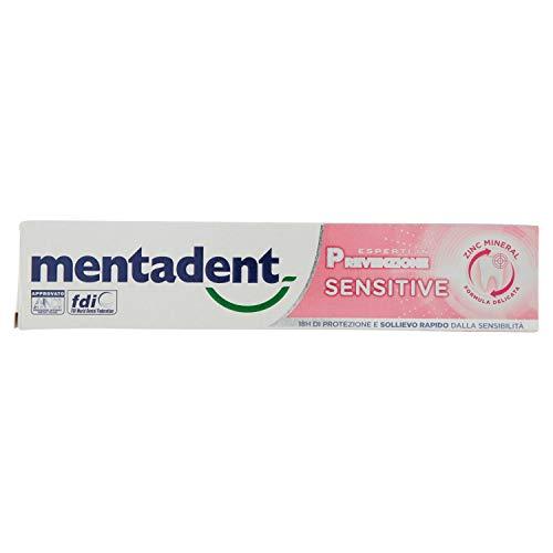 Mentadent Sensitive per Denti e Gengive Sensibili con Antibatterico, 75 ml