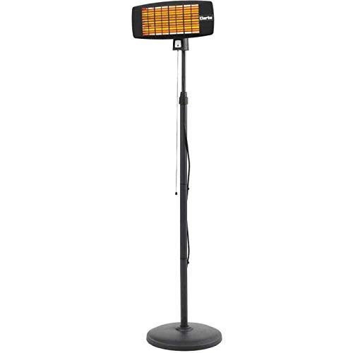 Clarke IQ2000S 2kW Infrared Quartz Wall Heater With Stand Outdoor Heaters & Fire Pits