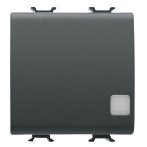 Gewiss GW12918 – knop elektronische inrichting Signage 2 modules Bus/230 V champan/zwart