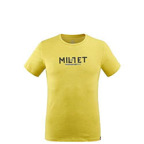 Millet - Tape Logo TS M - T-shirt Sport Homme - Respirant - Randonnée, Approche, Lifestyle - Gris