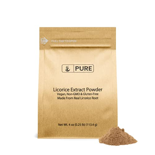 100% Pure Licorice Root Extract Powder, 4oz, Non-GMO & Gluten-Free, No Fillers, Vegan, Made in USA, Eco-Friendly Packaging
