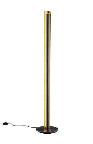 TRIO, Lampadaire, Texel incl. 1 x LED,SMD,15,0 Watt,3000K,1450 Lm. Corps: metal, Noir Ø:25,0cm, H:142,5cm IP20,Interrupteur pied,Réglable avec interrupteur