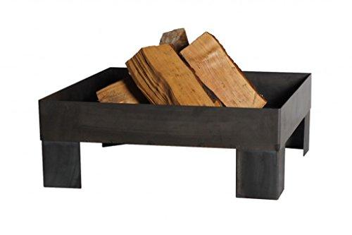 FARMCOOK Feuerschale PAN-6 Stahl unbehandelt in drei Größen (80x80x22 cm)
