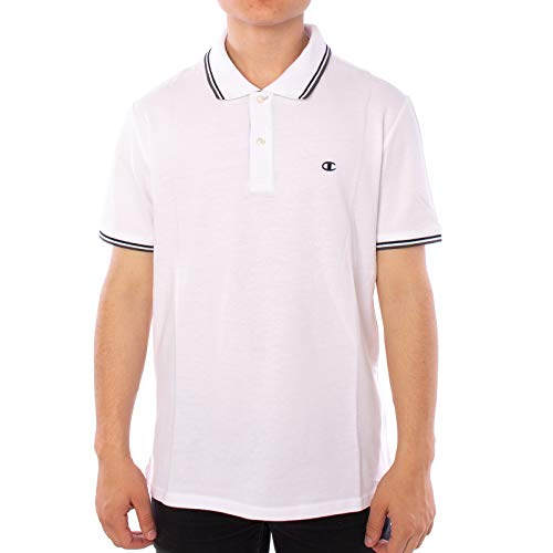 Champion Hr. Polo Shirt Auth 211847 weiß Gr.4XL