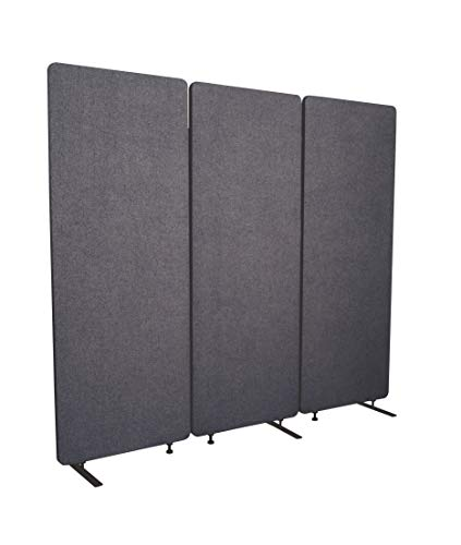 S Stand Up Desk Store ReFocus Acoustic Room Dividers   Office Partitions – Reduce Noise and Visual Distractions with These Easy to Install Wall Dividers (72' X 66', Ash Gray)