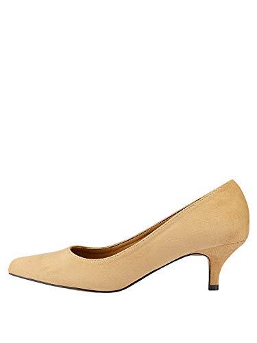 Marypaz, Zapato de salón con tacón bajo y Punta Cerrada para Mujer...
