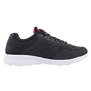 Fila Mens Windracer Fabric Low Top Lace Up Running, Black/Red/White, Size 8.5