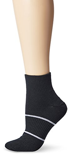 Wrightsock Anti-Blister Double Layer Running II Quarter Sock Color Black Size L
