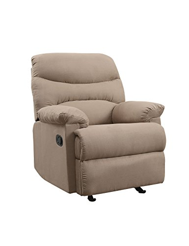 ACME Arcadia Recliner - - Light Brown Microfiber