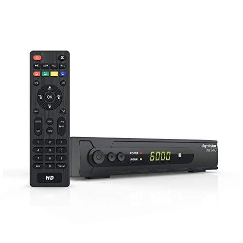 sky vision HD SAT Receiver 350 S-HD - HDMI Receiver für Sat, Digitaler Satelliten Receiver DVBS 2, Sat Receiver HDMI & SCART, HD Satellitenreceiver für SAT-HDTV