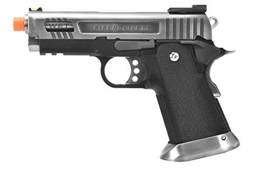 WE TECH 3.8 HI-CAPA Full Metal Gas Blowback Airsoft Pistol (Silver)