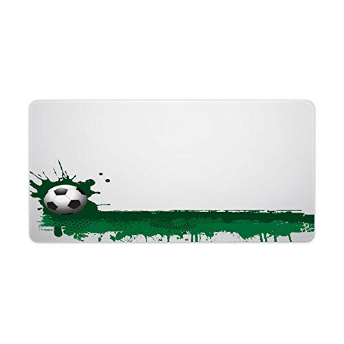 Green Sports Desktop and Laptop Mouse pad 1 Pack 600x300x3mm/23.6x11.8x1.1 in