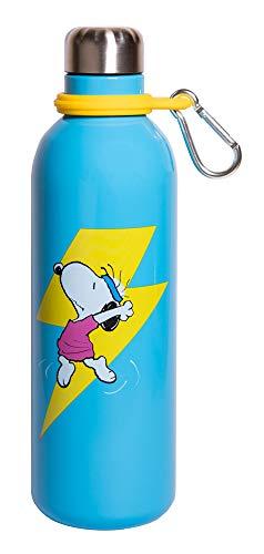 Grupo Erik Acier Inoxydable et Sans BPA Botella de Agua Acero Inoxidable con mosquetón Snoopy, 500 ml