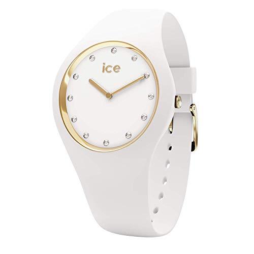 Ice-Watch - ICE cosmos White Gold - Women\'s wristwatch with silicon strap - 016296 (Medium)