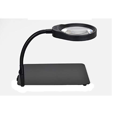 Licht Einstellbar High-Definition-Hochleistungs-LED-Leuchte Tischlupe mit Lampe 10-maliges altes Lesetest-Leiterplatte-Handy-Reparaturarbeits-Tischlampe der Kinder 100 Objektiv-Taktgeber 20