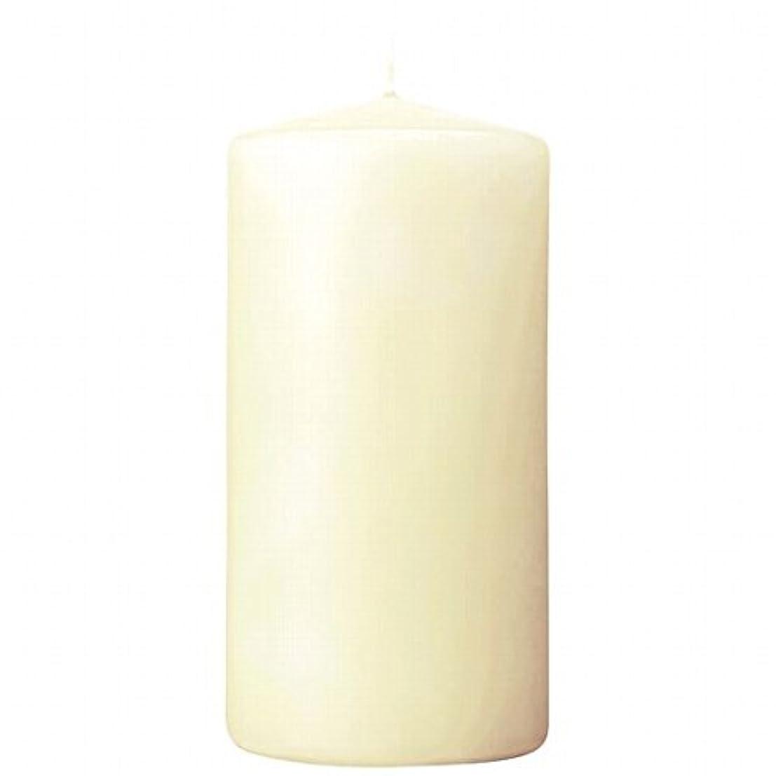 カメヤマキャンドル(kameyama candle) 3×6ベルトップピラーキャンドル 「 アイボリー 」
